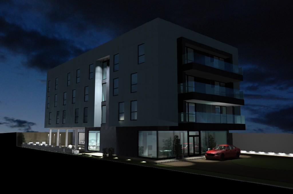 Hotel en Abuja, fachada modificada