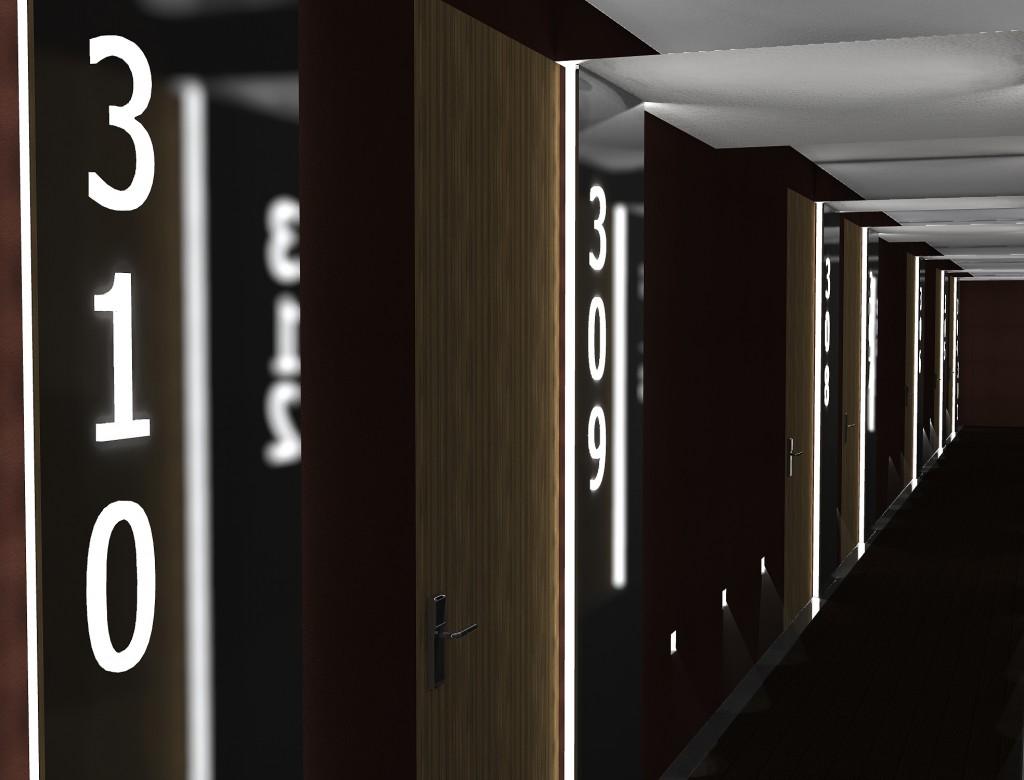 Detalle del diseño del pasillo