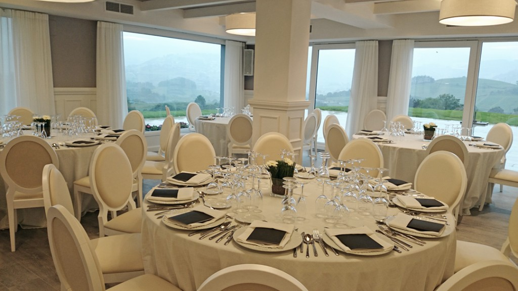Interior del Restaurante Abeletxe para boda