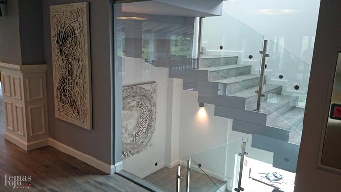 Vista nueva escalera del Abeletxe