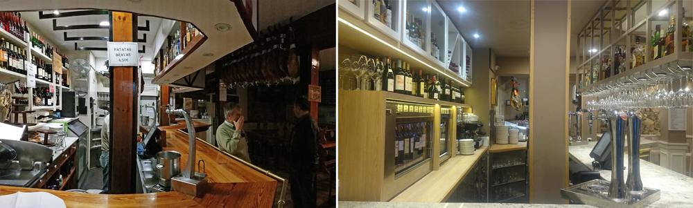 Antes y después de la zona de Bar del Restaurante Zumeltzegi