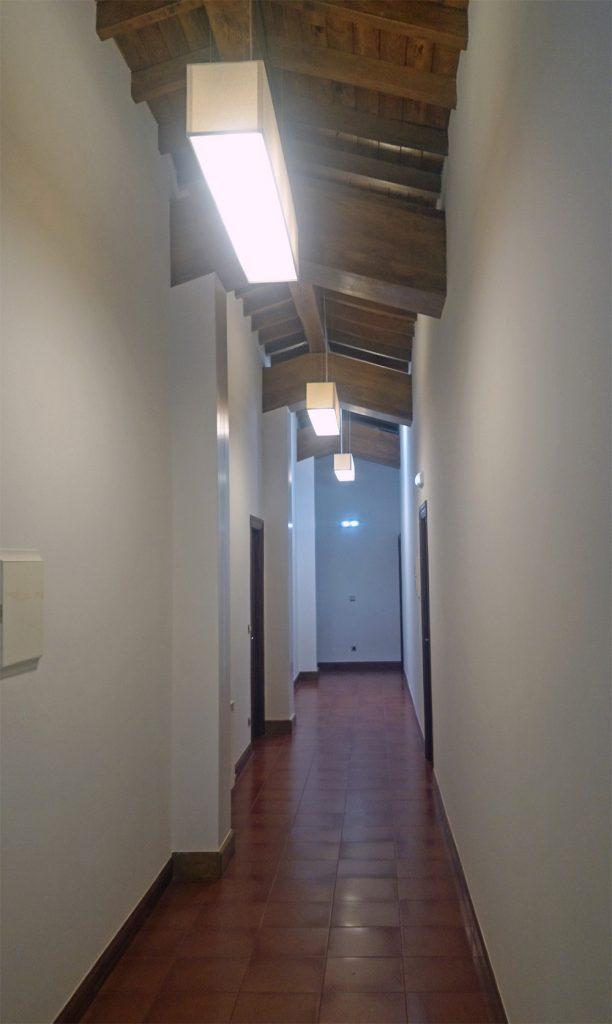 Nueva iluminación pasillo planta primera