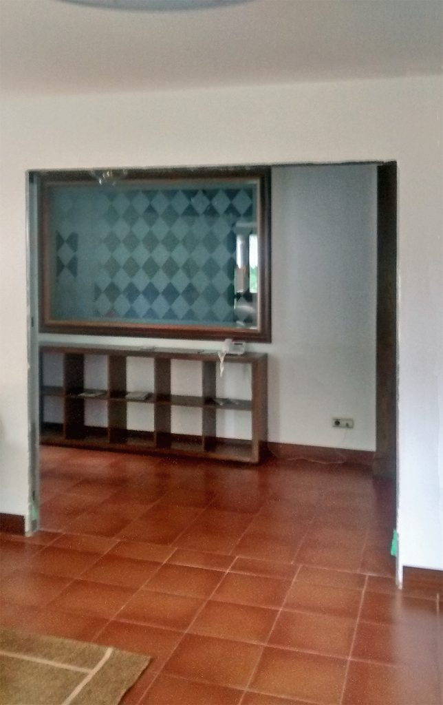 Nuevas aperturas entre salón relax, pasillo y comedor